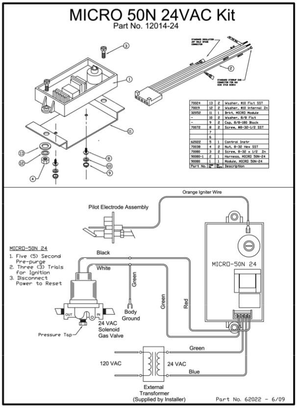 12014 24 Kit Micro Module Sunpak Patio Heaters